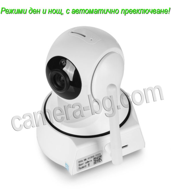 Охранителна IP камера с режими ден и нощ, с автоматично превключване и IR CUT филтър за по ясна картина през нощта