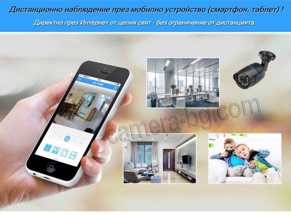 Дистанционно видеонаблюдение през мобилно устройство - смартфон / таблет, от цял свят