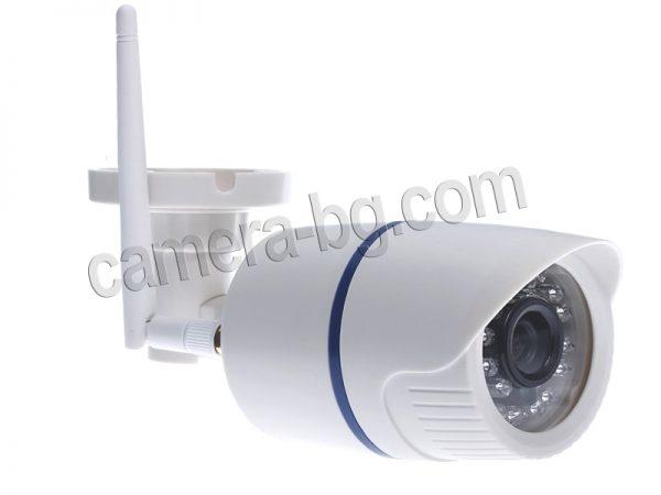 Външна охранителна интернет IP камера, Wi-Fi безжична, micro SD слот zза карта с памет до 64 GB, бяла