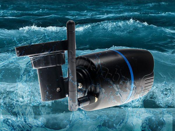 Охранителна водоустойчива IP камера, безжична Wi-Fi, micro SD слот, черна