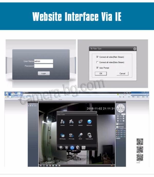 NVR видео рекордер с уеб интерфейс, за наблюдение, настройка и запис през браузър, по IP адрес