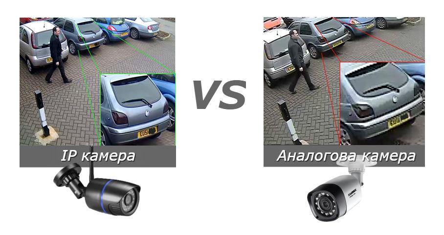 Сравнение между IP камери и анлогови AHD, TVI, TVL камери