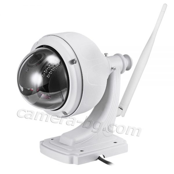 Охранителна високоскоростна IP камера, FullHD 1080P, 2MP, PTZ контрол, 5x Zoom увеличение, Wi-Fi безжична, слот за micro SD карта с памет, аудио, външна
