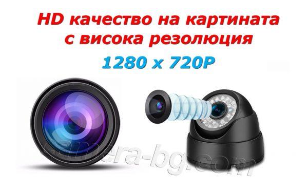 Куполна IP камера, високо качество на картината, HD 720P, 1MP, вътрешна, за охрана, режими ден и нощ, Web, облак