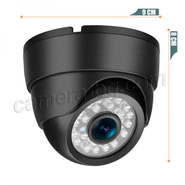 Куполна IP камера, HD 720P, 1MP, вътрешна, за охрана, режими ден и нощ, Web, облак