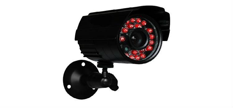 Изключване на нощното IR осветление на охранителна камера