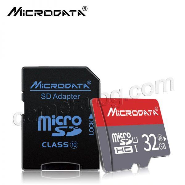 Micro SD карти с памет Microdata - 8GB, 16GB, 32GB, 64GB, 128GB, Class 10 - пълна съвместимост с IP камери, видеорегистратори, смартфони,
