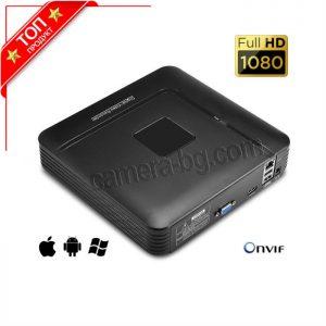 NVR видео рекордер за IP камери, FullHD 1080P, 2MP, H.264, 4 канала, HDD 3,5''