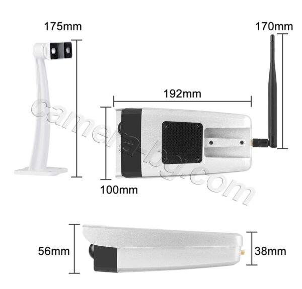Соларна IP охранителна камера, FullHD 1080P, 2MP, Wi-Fi безжична, слот за MicroSD карта, двупосочно аудио, батерия 7650 mAh, външна