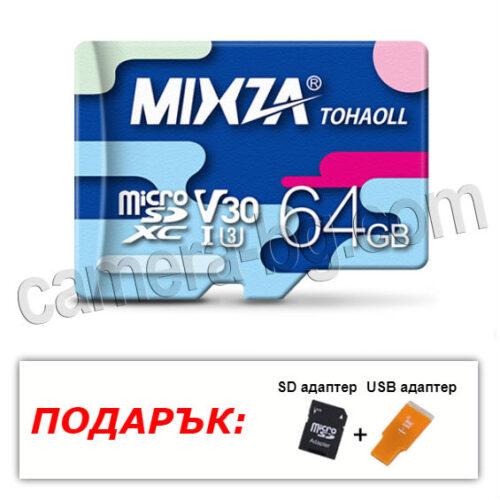 Micro SD карта с памет 64GB, Class10, Тайван, 100% оригинал