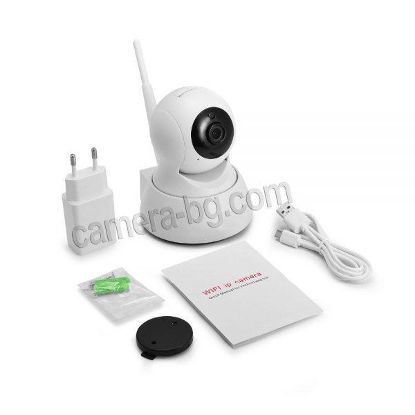 Охранителна камера, IP камера, бейбифон, интерком - HD 720p, 1.0MP - комплект