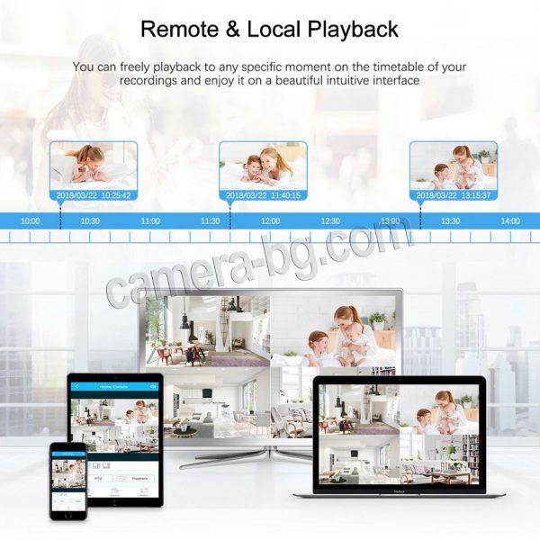 Готов, безжичен комплект за видеонаблюдение - видеорекордер NVR , WiFi, FullHD 1080P и IP камери FullHD 1080P, 2MP, Wi-Fi безжични, с аудио, външни - дистанционно видео наблюдение