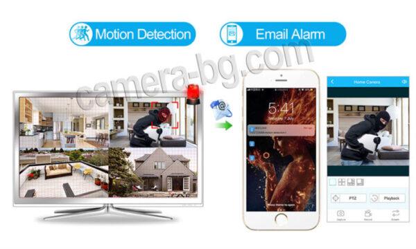 Готов, безжичен комплект за видеонаблюдение - видеорекордер NVR , WiFi, FullHD 1080P и IP камери FullHD 1080P, 2MP, Wi-Fi безжични, с аудио, външни - засичане на движение