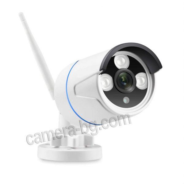 Готов, безжичен комплект за видеонаблюдение - видеорекордер NVR , WiFi, FullHD 1080P и IP камери FullHD 1080P, 2MP, Wi-Fi безжични, с аудио, външни