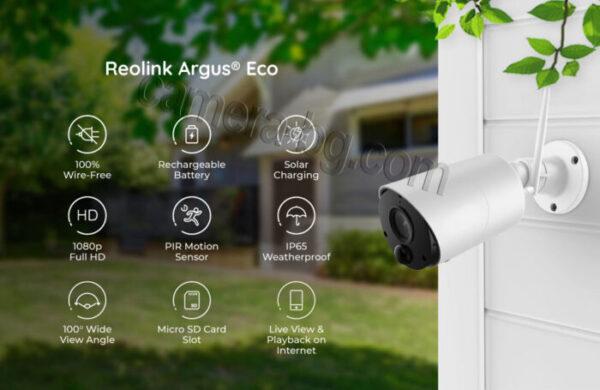 Соларна камера с батерия, IP камера, FullHD 1080P, 2MP, безжична Wi-Fi, PIR сензор, micro SD слот, двупосочно аудио, външна - функции