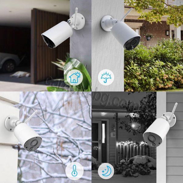 Соларна камера с батерия, IP камера, FullHD 1080P, 2MP, безжична Wi-Fi, PIR сензор, micro SD слот, двупосочно аудио - външна защита IP65