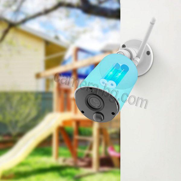 Соларна камера с батерия, IP камера, FullHD 1080P, 2MP, безжична Wi-Fi, PIR сензор, micro SD слот, двупосочно аудио - вградена, презареждаема батерия