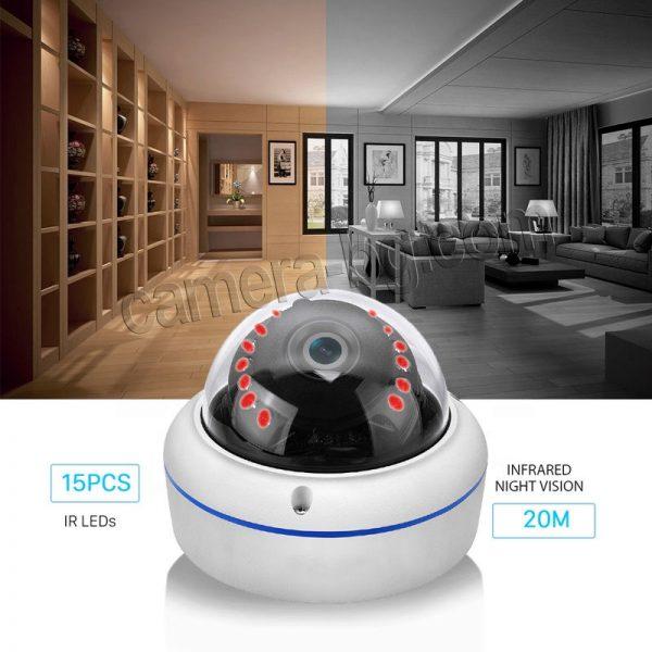 IP охранителна камера, FullHD 1080P, 2MP, с безжична Wi-Fi връзка, micro SD слот, външна, вандалоустойчива, метална, защита IP66 - нощен режим с кристално качество на картината
