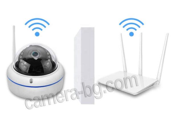 IP охранителна камера, FullHD 1080P, 2MP, с безжична Wi-Fi връзка, micro SD слот, външна, вандалоустойчива, метална, защита IP66 - лесна инсталация