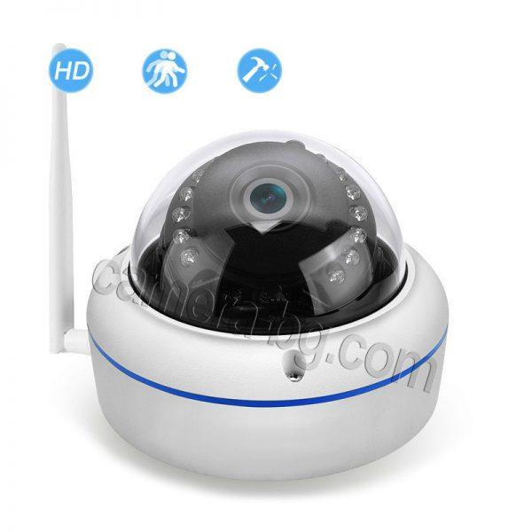 IP охранителна камера, куполна, FullHD 1080P, 2MP, с безжична Wi-Fi връзка, micro SD слот, външна, вандалоустойчива, метална, защита IP66