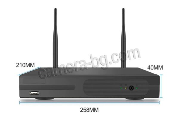 Готов комплект за видеонаблюдение - безжичен WiFi видеорекордер NVR с дистанционно управление , FullHD 1080P и от 1 до 4 бр. IP камери FullHD 1080P, 2MP, Wi-Fi безжични, с аудио, външни, бели