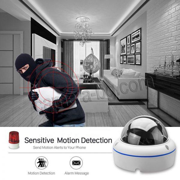 Охранителна камера, SuperHD 5MP, 4K UltraHD, PoE 48V, външна, вандалоустойчива, метална, защита IP66, аудио - засичане на движение