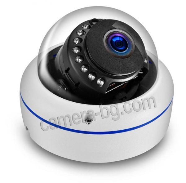 Охранителна IP камера, PoE 48V, външна, вандалоустойчива, метална, защита IP66, аудио - подсилен стъклен купол