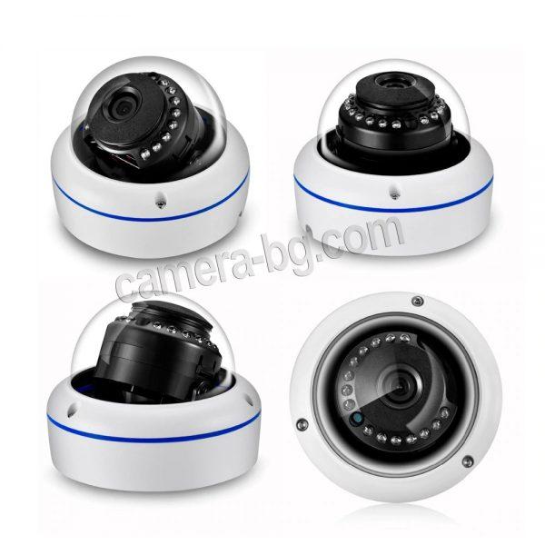 Охранителна IP камера, PoE 48V, вандалоустойчива, метална, защита IP66, аудио - външен монтаж