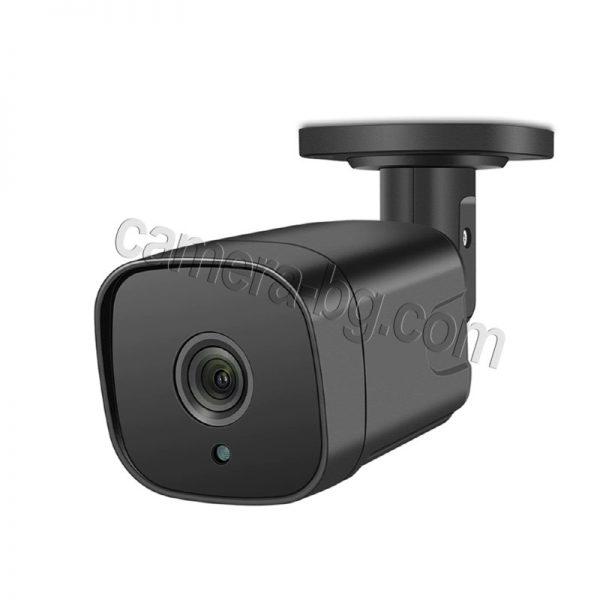 Охранителна камера 5MP, SuperHD, PoE 48V, външна, вандалоустойчива, метална, защита IP66, двупосочно аудио - нощна дистанция до 25м