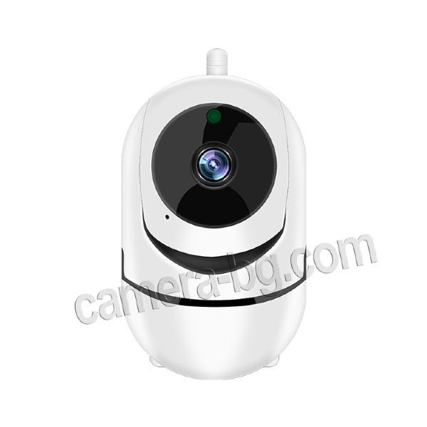 Охранителна камера за видеонаблюдение, интерком, FullHD 1080p 2MP, WiFI безжична, запис на звук - двупосочно аудио, micro SD слот за записи на карта с памет, IR CUT филтър - елегантен дизайн