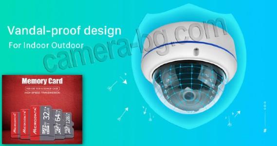 Запис на видео от охранителна IP камера за видеонаблюдение върху телефон, смартфон, таблет, компютър, лаптоп, облак, NVR, DVR