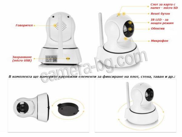 IP камера, охранителна камера, бейбифон, FullHD, Wi-Fi, micro SD слот, PTZ контрол, двупосочно аудио, вътрешна - описание
