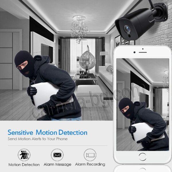 Охранителна Камера за Видеонаблюдение със Звук, 5.0MP SuperHD 1944P, безжична WiFi, слот за micro SD карта, двупосочно аудио, външна IP66, метален корпус - засичане на движение само на хора