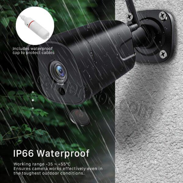 Охранителна Камера за Видеонаблюдение със Звук, 5.0MP SuperHD 1944P, безжична WiFi, слот за micro SD карта, двупосочно аудио, външна IP66, метален корпус - водоустойчива